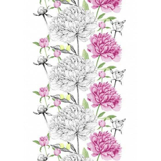 Vallila Vanha Suola pink fabric