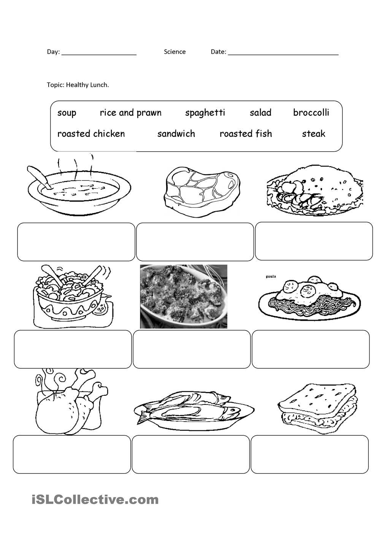Healthy Food Alimentos em ingles, Aulas, Ensino de inglês