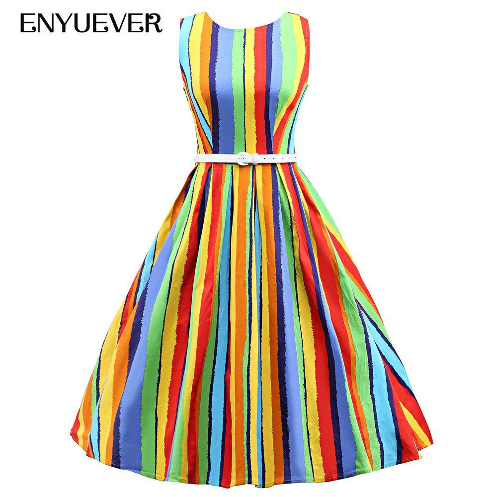 Günstige Enyuever Robe Rockabilly 50 s Vintage Kleider Swing Pin Up ...