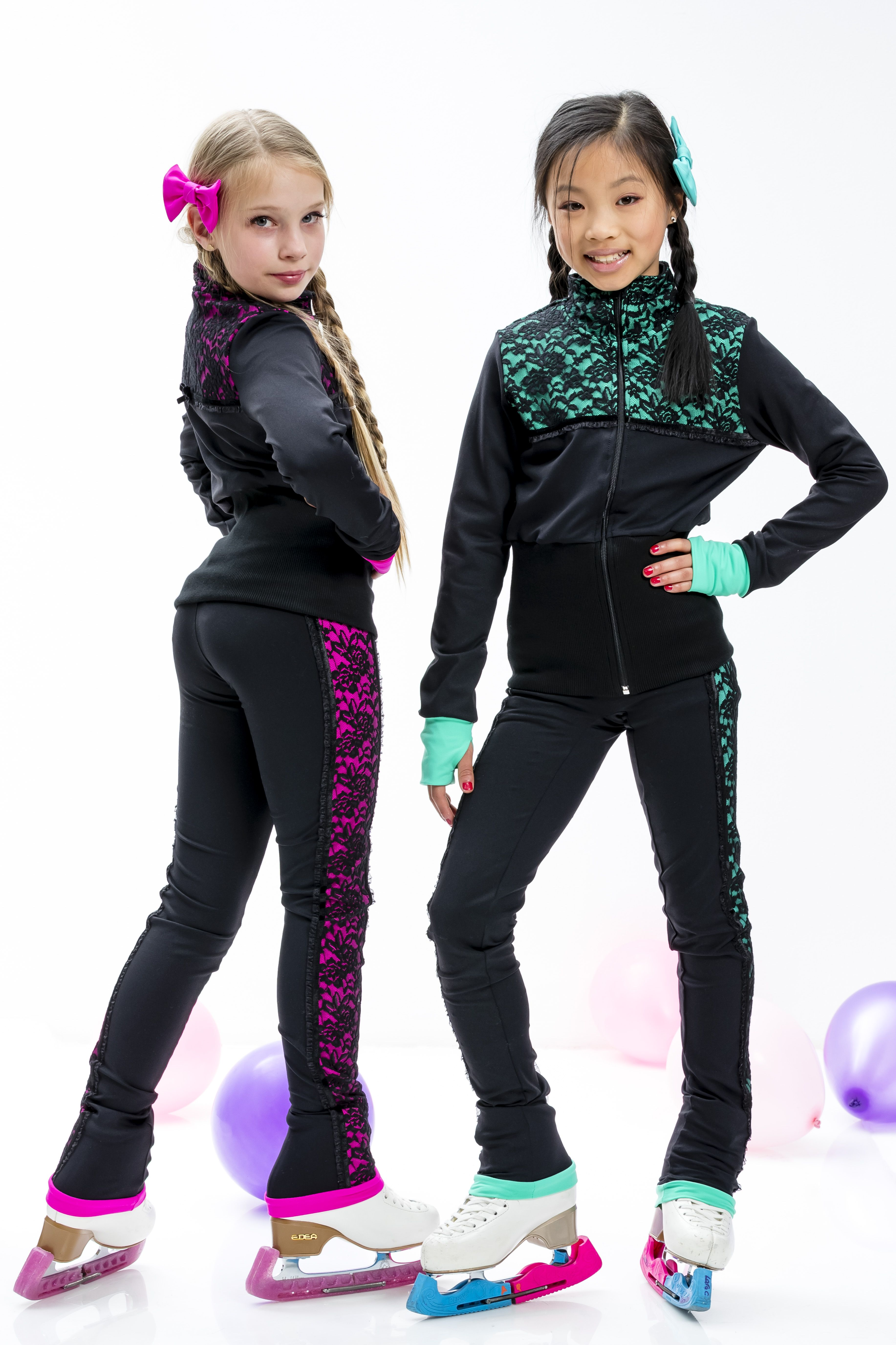 ny2 Sportswear Figure Skating Polar Fleece Fitted Jackets by Polartec P02