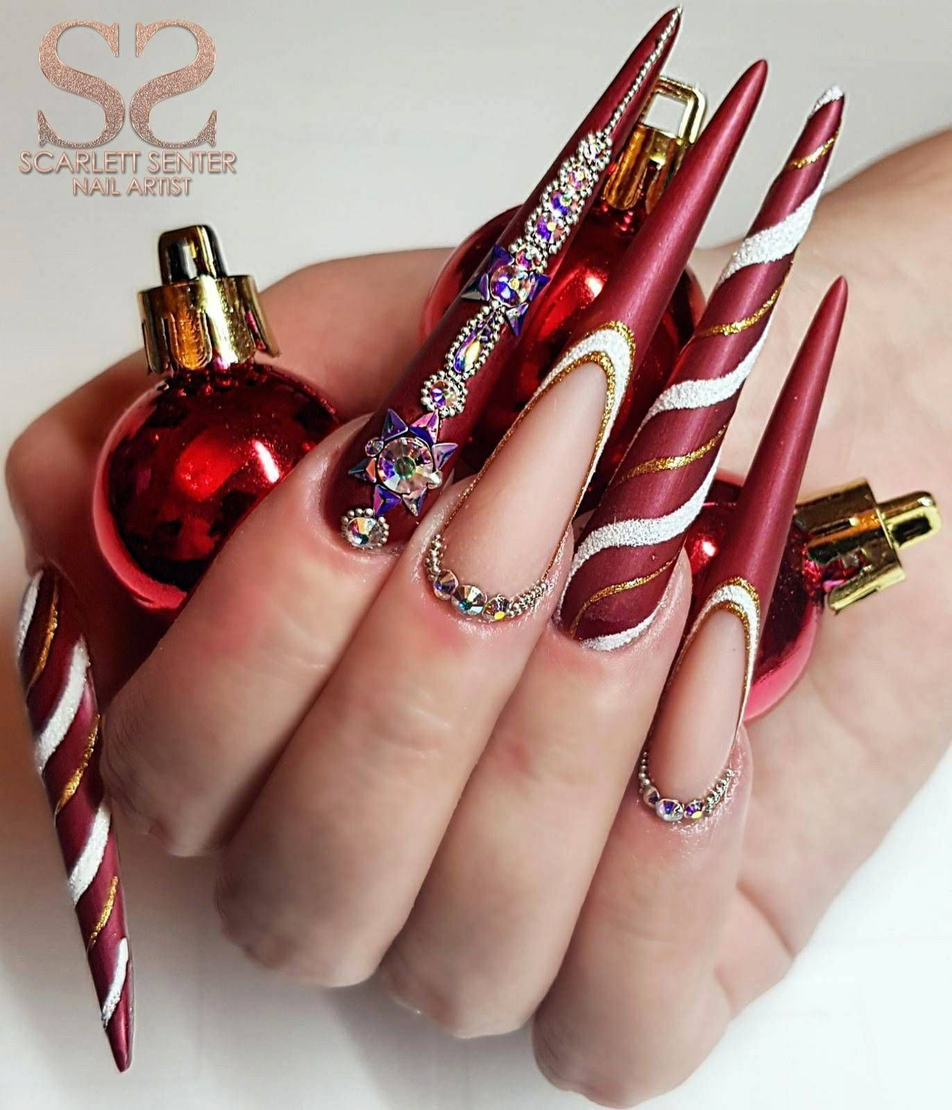 60 Amazing The Key To Successful Christmas Nails Gel Inspirations Rainbow Nails Christmas Nails Easy Christmas Nails