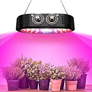 LED Grow Light Tinnyfy 1100W Plant Grow Lights with Rotate Button Controls 0100 Adjustment Brightness Veg and Bloom Double Switch Grow Lamp for Indoor Plants Veg and Flow...