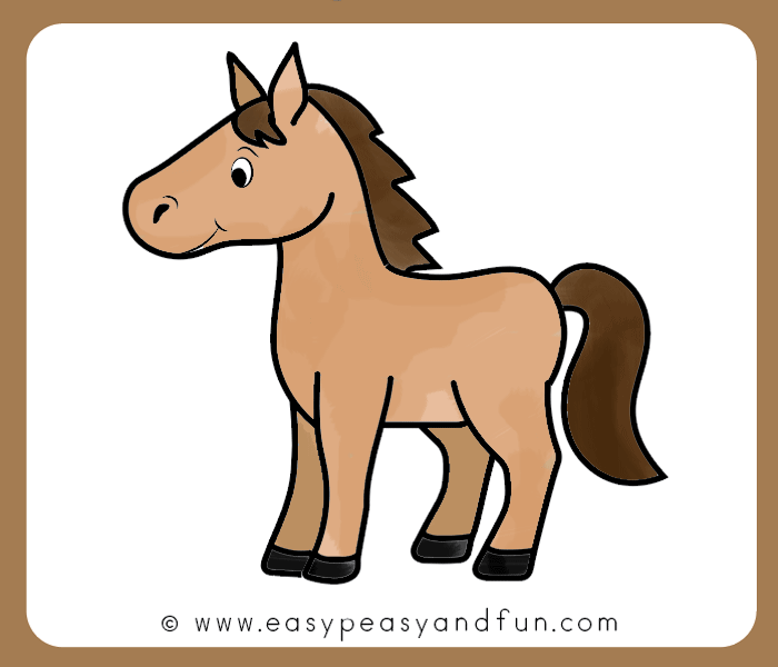 How to Draw a Horse Step by Step Tutorial for Kids ...