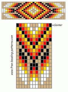 Native American Beading Pattern Patterns Beading Jewelry Bracelet