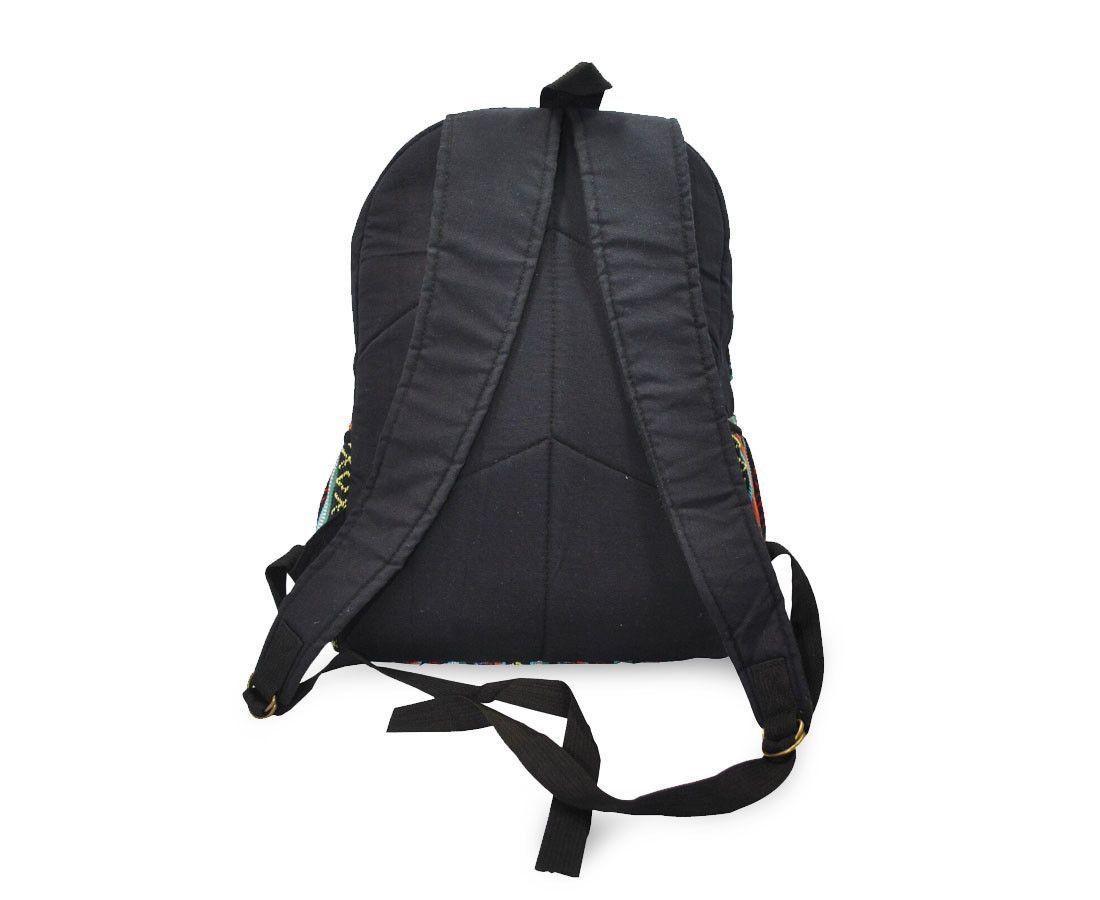 183cec46d1 Mato Canvas Backpack Boho Bohemian Tribal Aztec Pattern Black Laptop Bag  Daypack