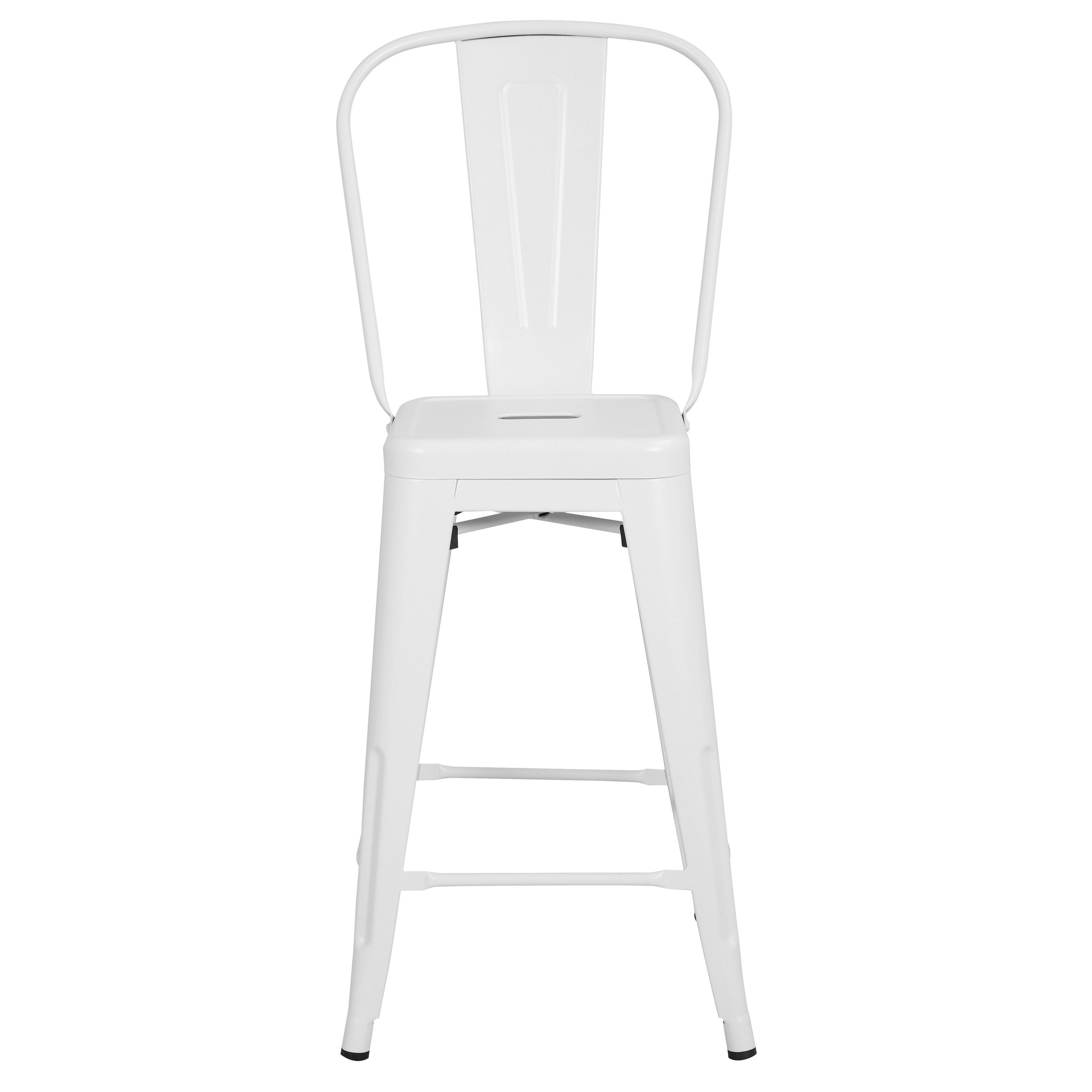 Trattoria 24 High Back Counter Stool Poly Bark Counter