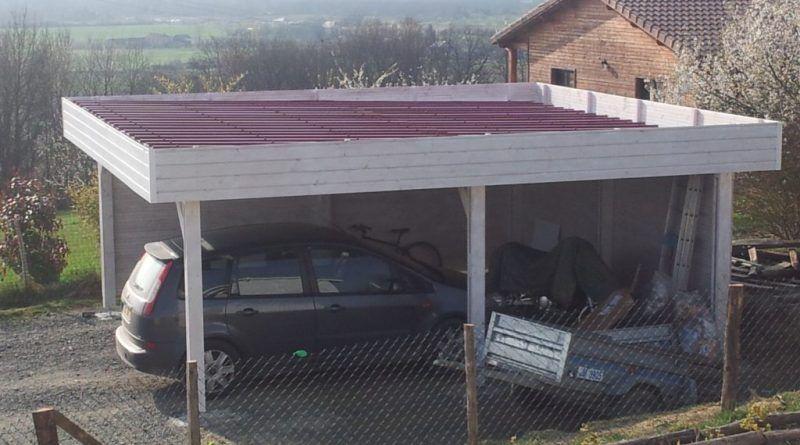 Construction D'Un Carport Mono Pente En Bois. | Garage, Abri Voiture