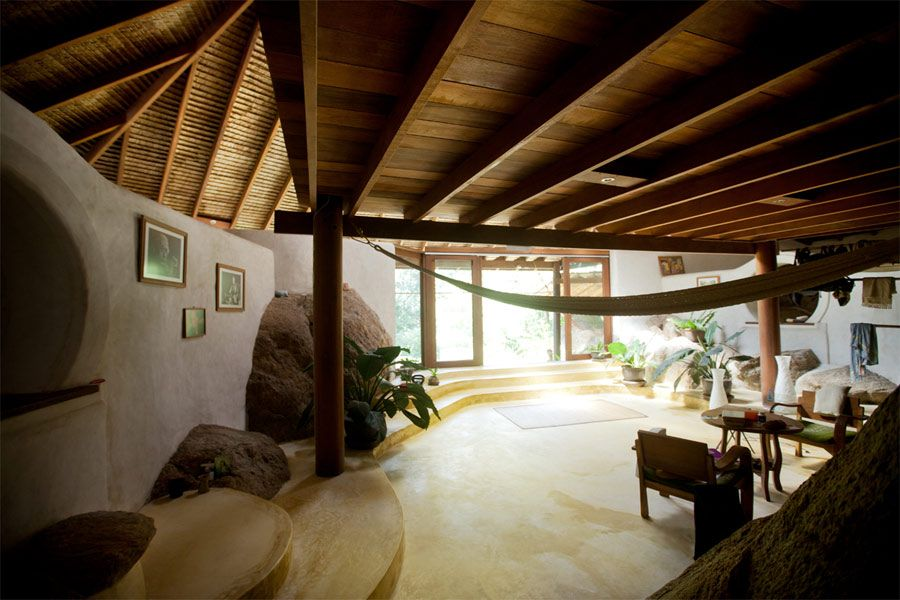 earthbag home interior designs click on