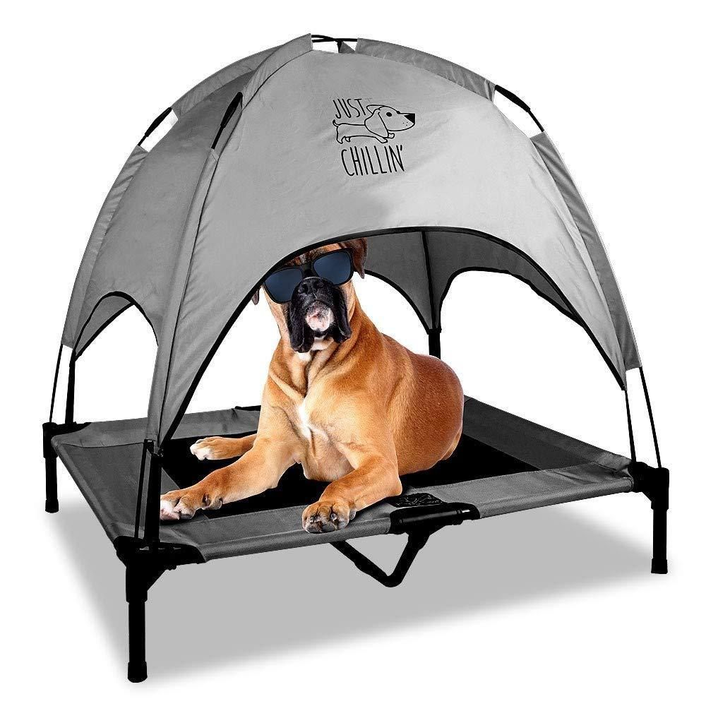 Portable Dog House Pet Bed Tent Outdoor Cot Camping Shelter Medium