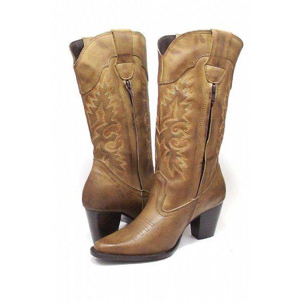 Bota Texana Feminina 327 Capim …  09866e8f5af