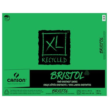 Canson Xl Series Mix Media Pad Canson Xl Recycled Bristol Pad 19in X 24in 25 Sheets Pad White