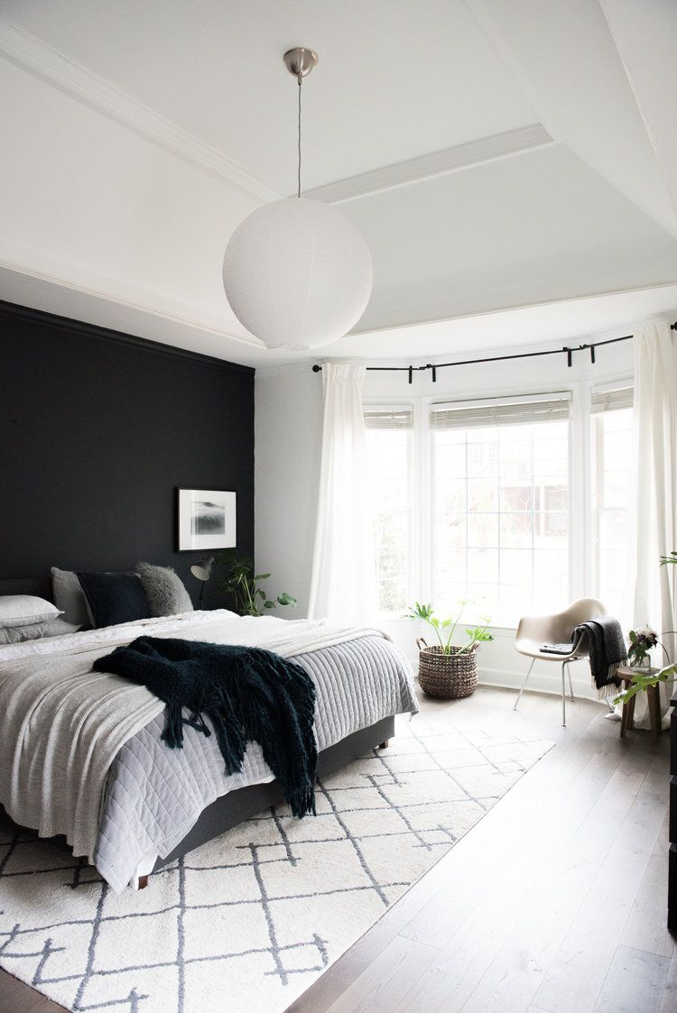 I Went For It Dramatic Modern Cozy Master Bedroom Makeover House Of Valentina In 2020 Cozy Master Bedroom Master Bedroom Makeover Master Bedrooms Decor