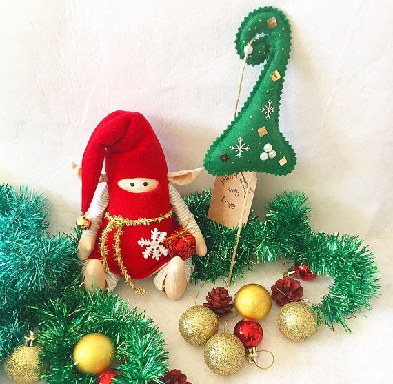"Christmas gnome ""Nik-nik"". Ready to ship."