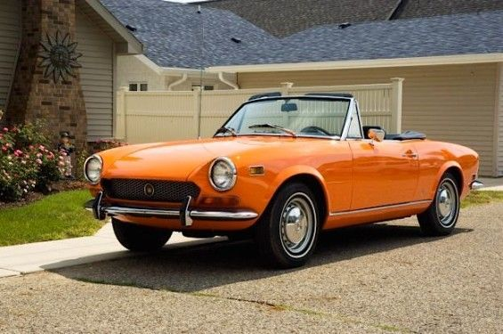 1971 fiat spider love the old style bumper and love the big orange Fiat 124 Spider Abarth 1971 fiat spider love the old style bumper and love the big orange color go vols
