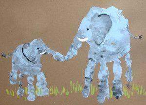 elephant handprints!!
