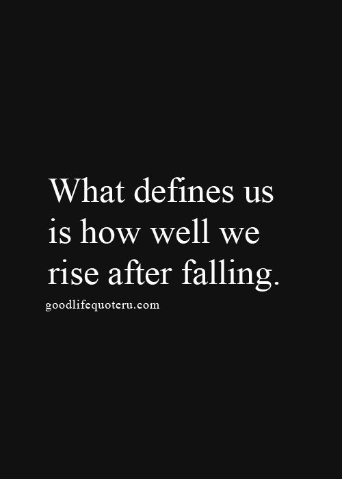 after falling...
