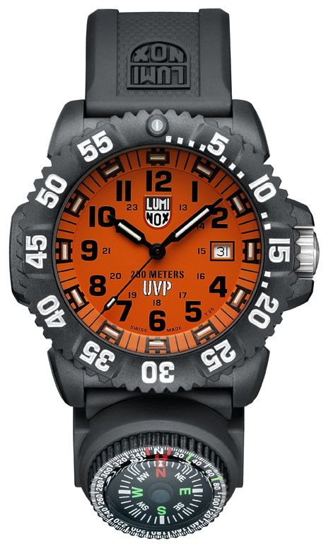 342afb40bfd4 Scott Cassell series Luminox watch with compass.