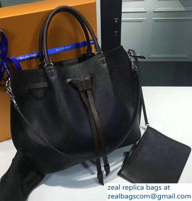 4523a3a81e9f Louis Vuitton Girolate Monogram Canvas Drawstring Bag M54401 Black. Louis  Vuitton X Fragment ...