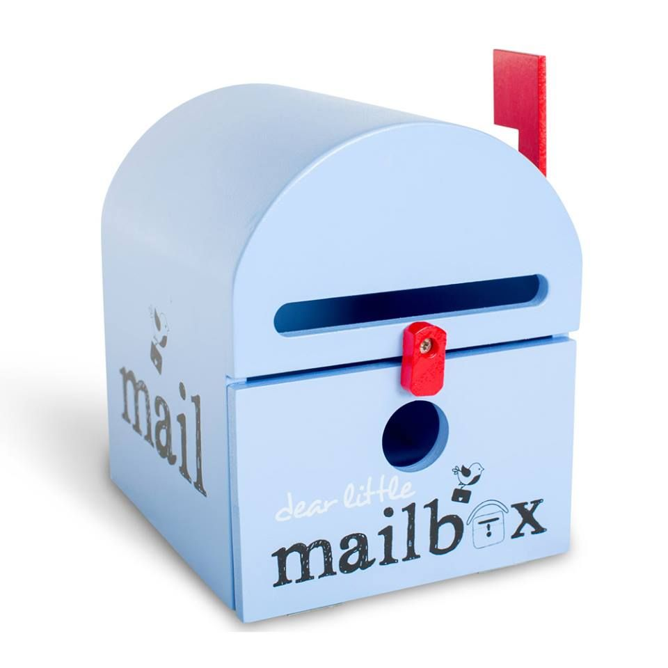 Mailboxes for kids blue wooden mailbox tooth fairy and easter mailboxes for kids blue apple giftsmail negle Choice Image