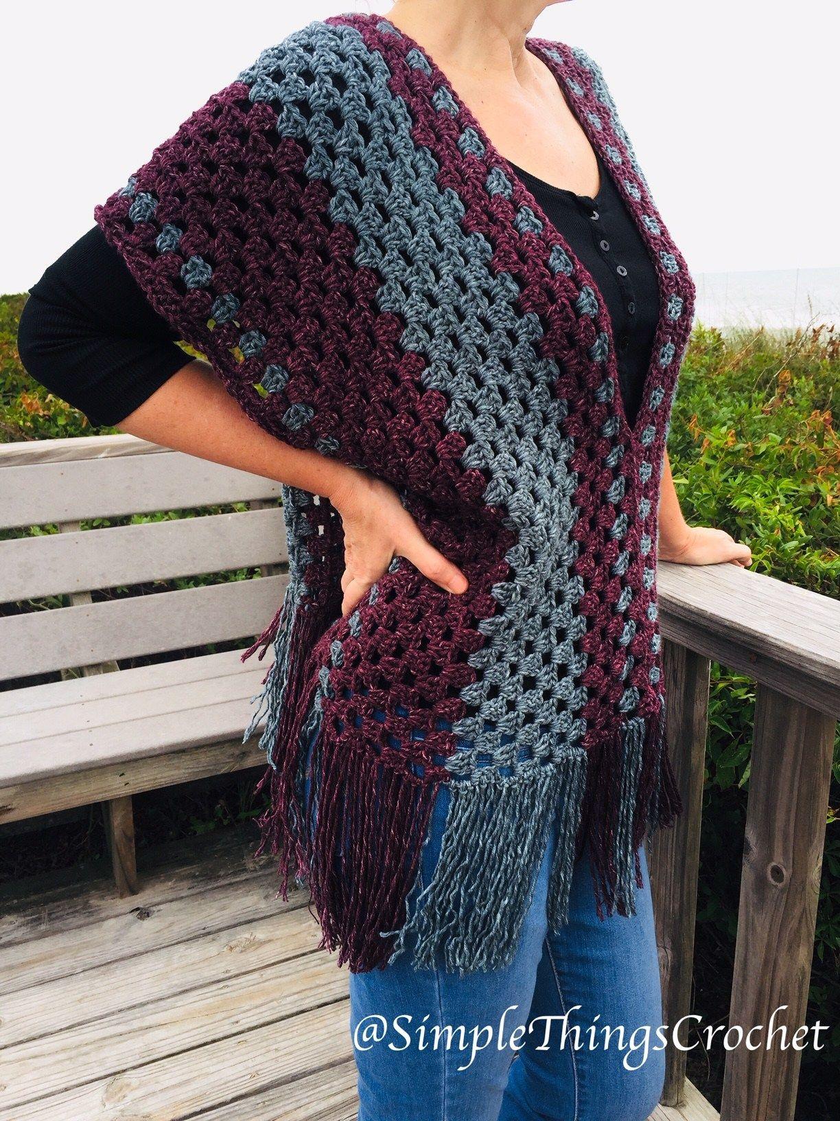 Misty Morning Poncho Top Crochet Crochet Poncho Patterns