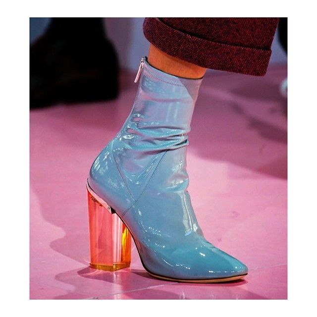 Dior latex ankle boots with lucite heels! FW 15