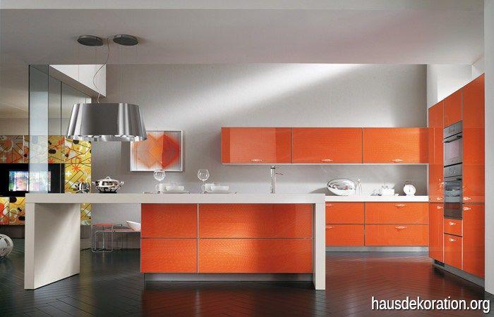 Orange Küche Fischgräten Holz Fliesen Ideen rund ums Haus - alte küche neu gestalten