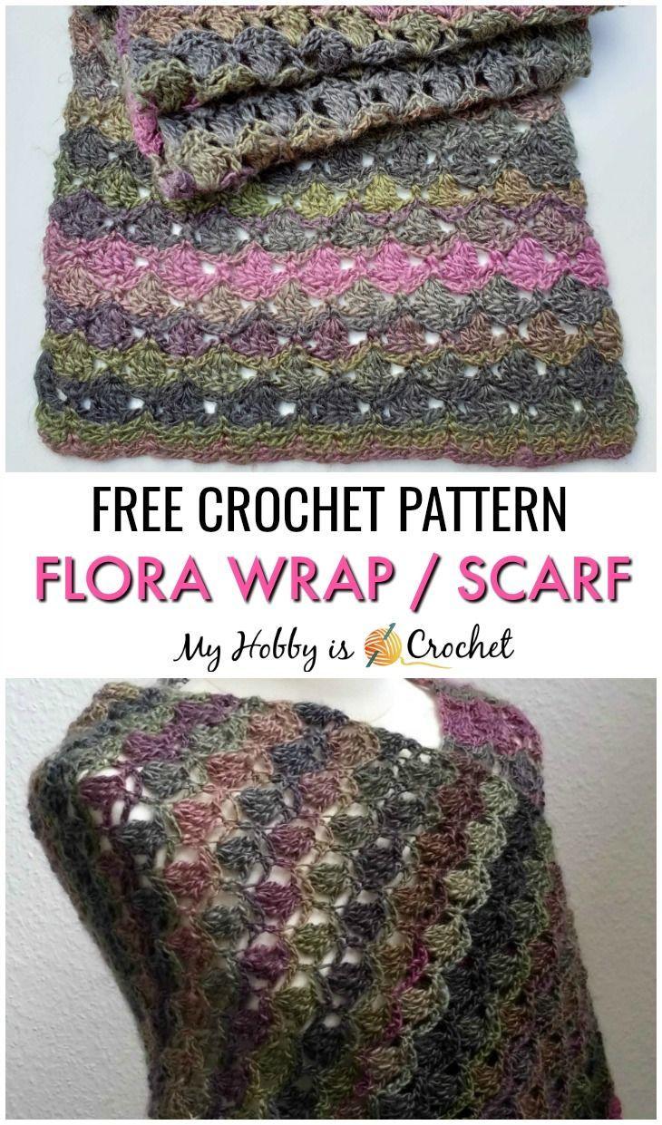 Photo of Flora Wrap / Shawl / Scarf – Free Crochet Pattern
