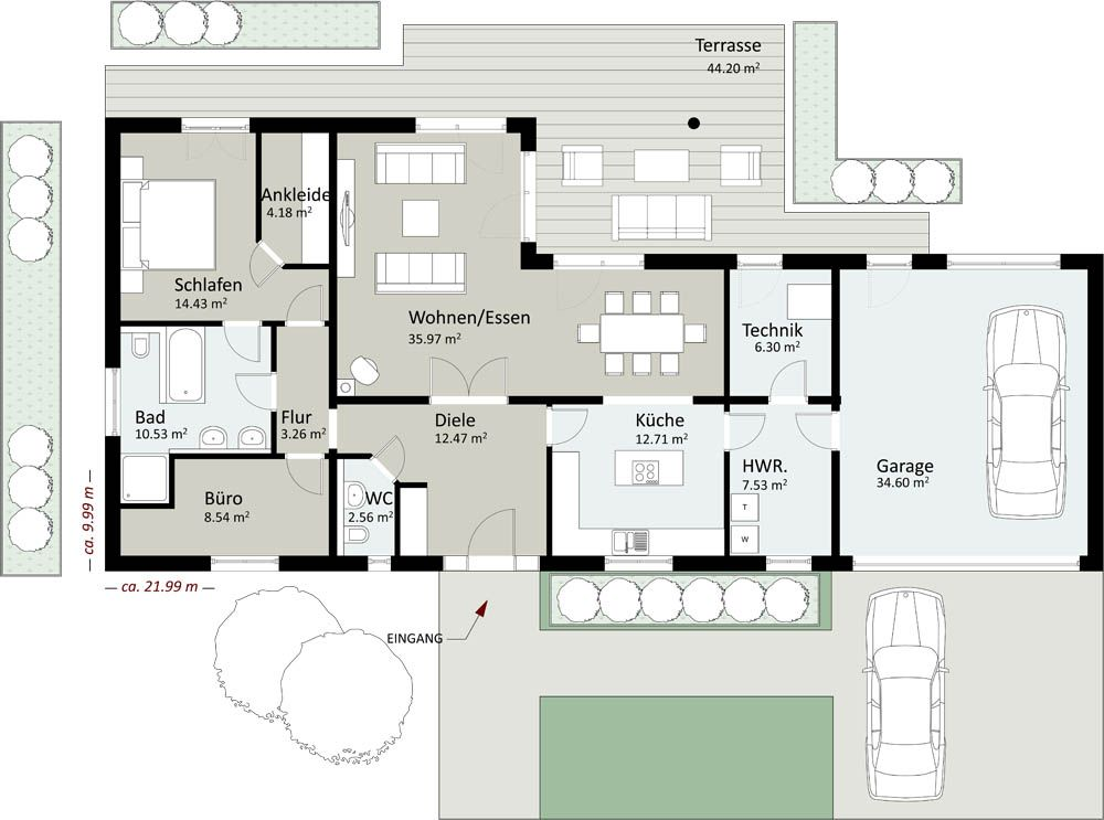 Bungalow grundriss 120 qm Grundriss bungalow mit ...