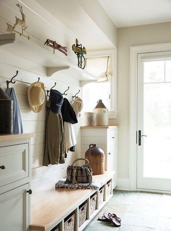 27 cozy and simple farmhouse entryway dcor ideas digsdigs - Entryway Decorating Ideas
