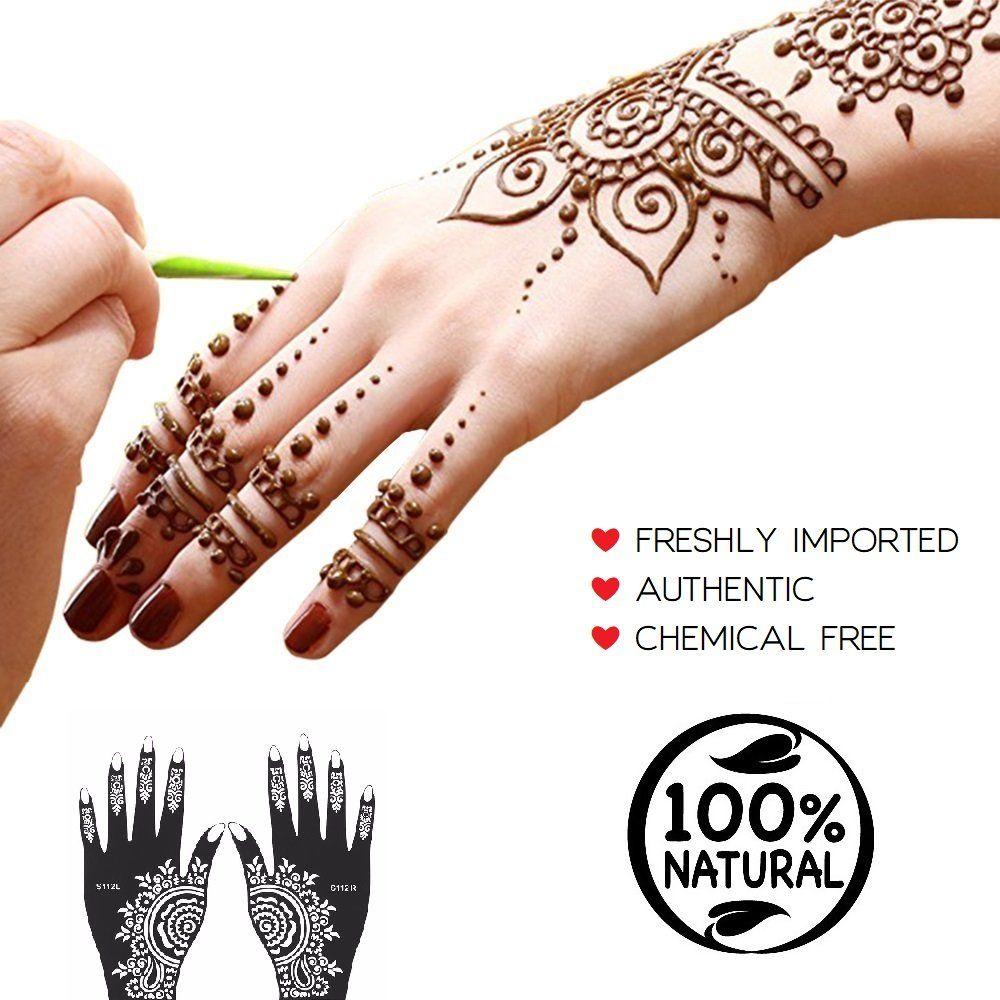 Mamar premium india henna tattoo cone kit 7pc temporary