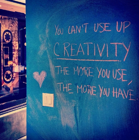 You can't use up creativity, the more you use, the more you have #quote