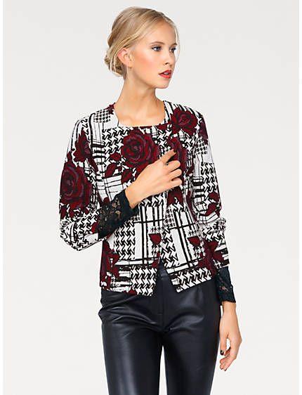 Jacquardblazer in asymmetrischer Kurzform   Fashion Update ... 541bd09240