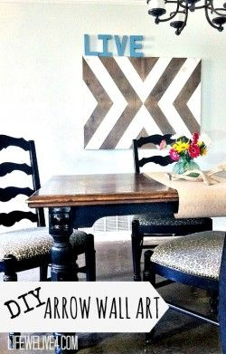 DIY Wooden Arrow Wall Art thats eclectic, chic, and cheap ...