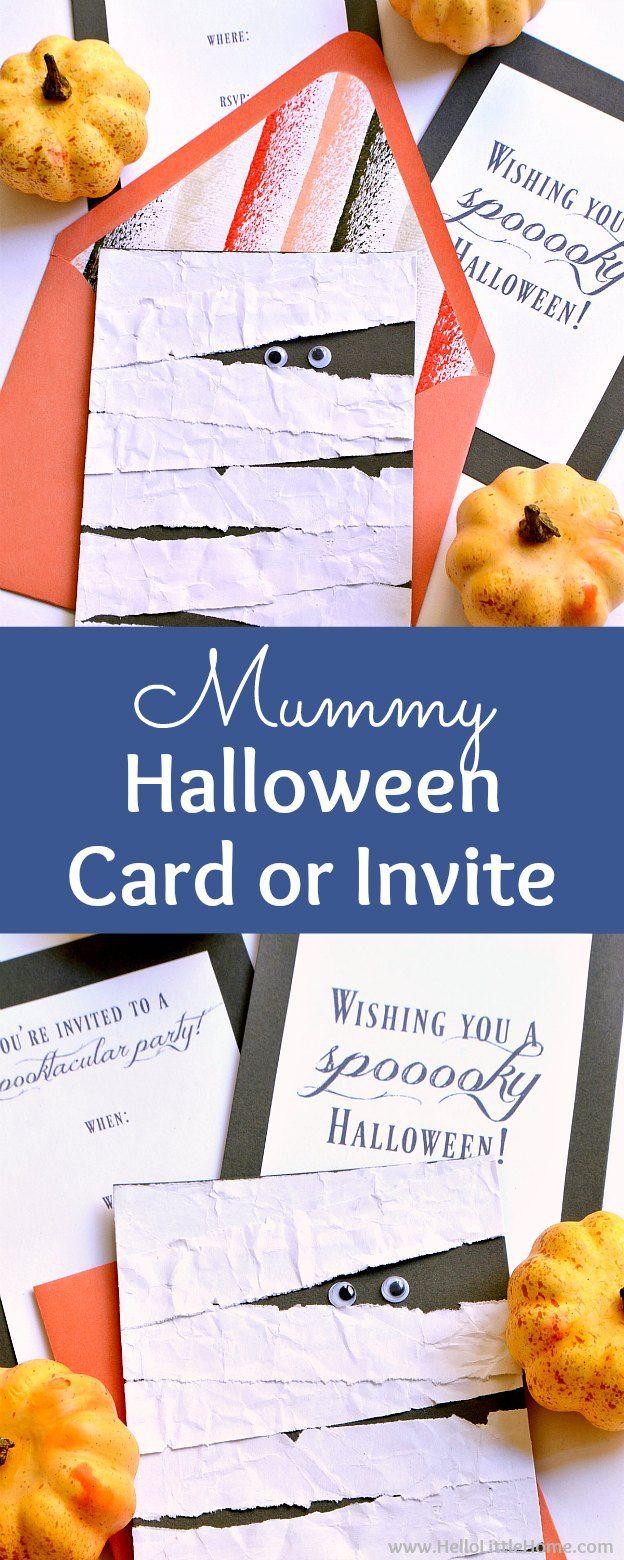 DIY Mummy Halloween Card or Invitation ... step by step tutorial ...