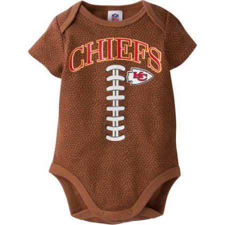 NFL Kansas City Chiefs Baby Boys Football Print Bodysuit, Infant