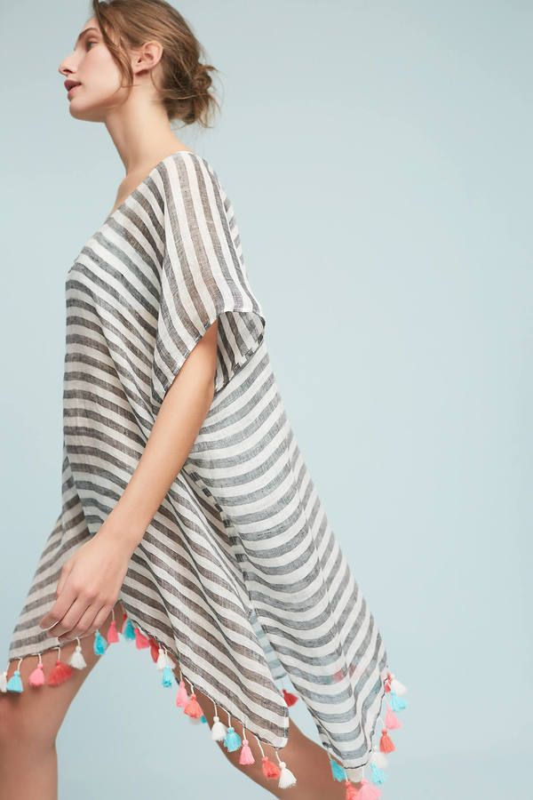 2a5261e6dcb220 Seafolly Striped Kaftan Cover-Up. Wear it with white collar shirt amd jeans