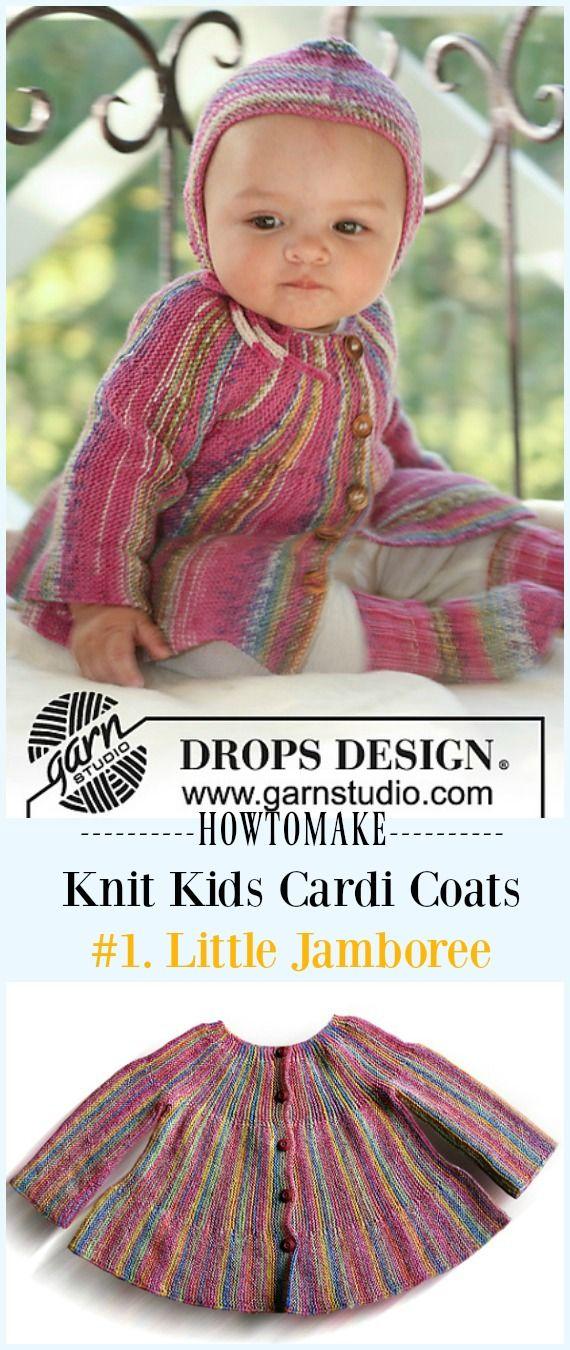 Kids Cardigan Sweater Free Knitting Patterns | Knitting patterns ...