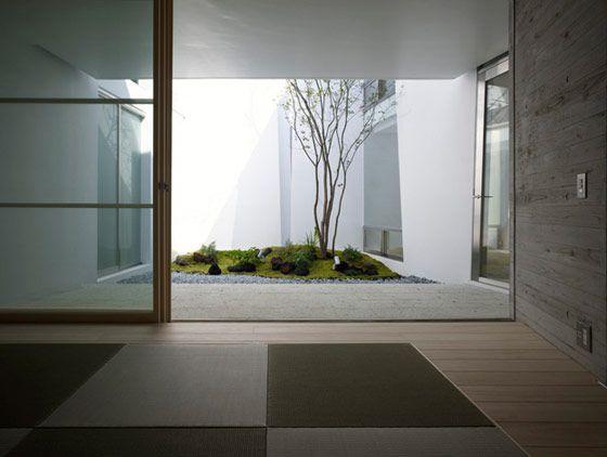 modern, minimal, design interior house patio Pinterest - interieur mit holz lamellen haus design bilder