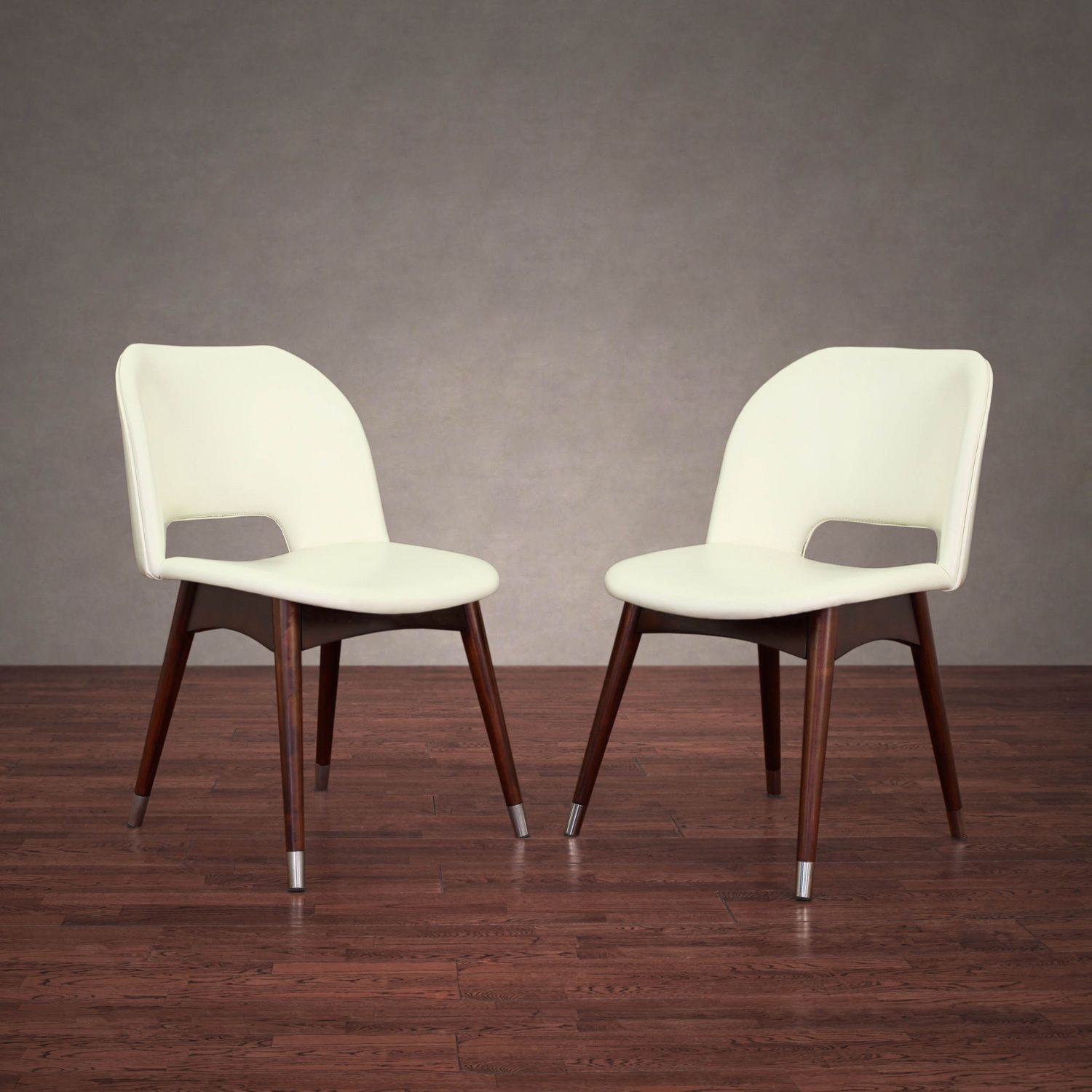 Etonnant Betty Modern White Leather Dining Chairs (Set Of 2)   Overstock Shopping    Great