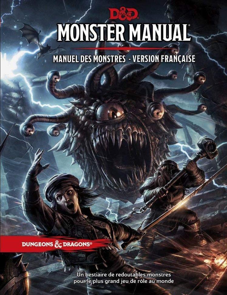 Monster Manual Manuel Des Monstres Version Francaise Dungeons And Dragons 5 Dungeons And Dragons Books Dungeons And Dragons