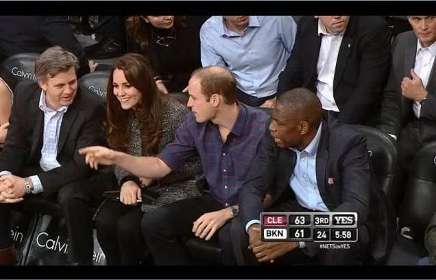 Will and Kate courtside at the @BrooklynNets #RoyalVisitUSA