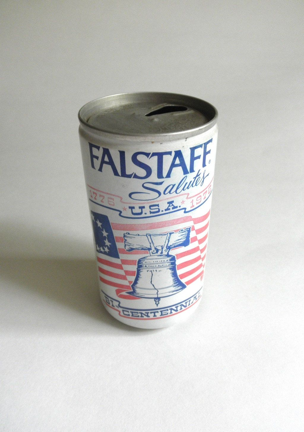 Vintage 1976 Falstaff Beer Can Pull Tab Red White and Blue Bicentennial General Brewing Co 4th of July Party Jackpot Jen by JackpotJen on Etsy