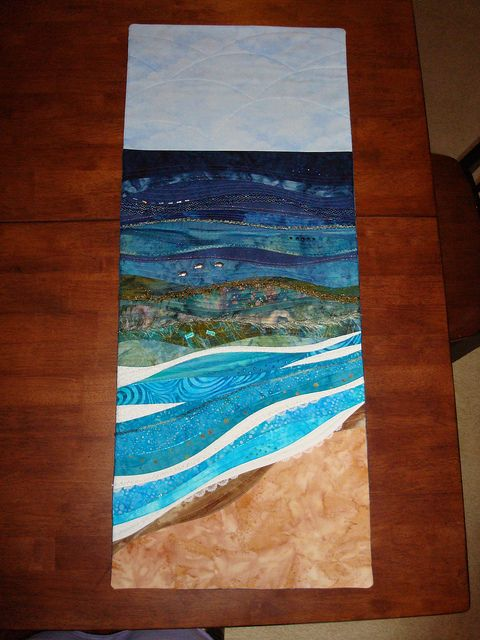 Skinny Quilts Seascape | Landscape quilts, Landscaping and Quilt art : seascape quilts - Adamdwight.com