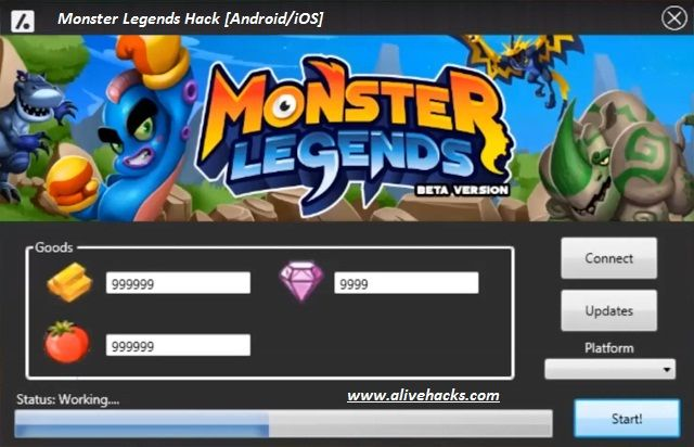 Monster Legends Hack Android/iOS tool download 2017 cheats version. Monster  Legends Hack Android