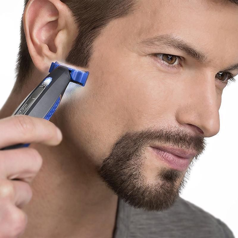 Electric razor rechargeable beard hair cleaning shaver