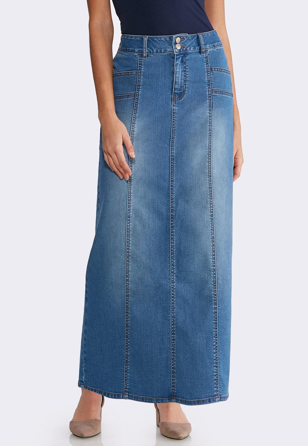 9fa1680a98 Seamed Denim Maxi Skirt Skirts Cato Fashions in 2019 | Want ...