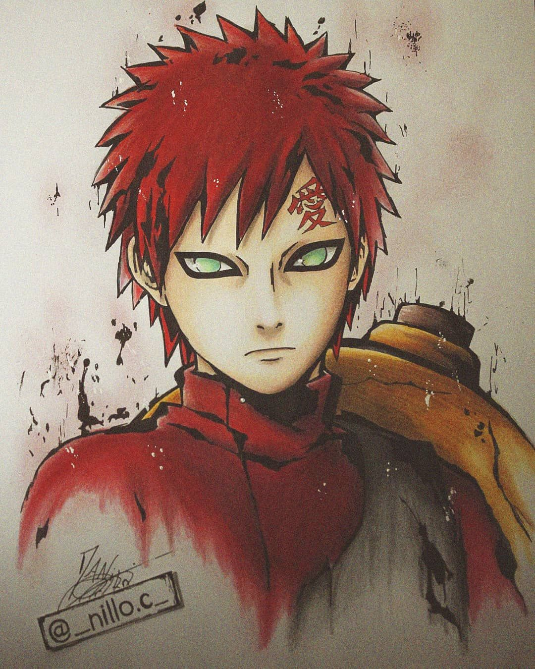 """Photo of Danilo's Instagram post: """"Gaara? First of the year :3"""""""