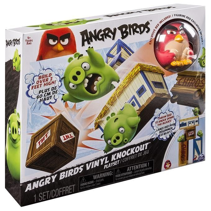 Angry Birds Vinylowy Zestaw Angry Nokaut Angry Birds Pops Cereal Box Playset