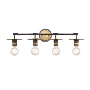 Photo of Maxim Lighting International Dart Satin Brass Four Light Vanity Light 21284swsbr | Bellacor