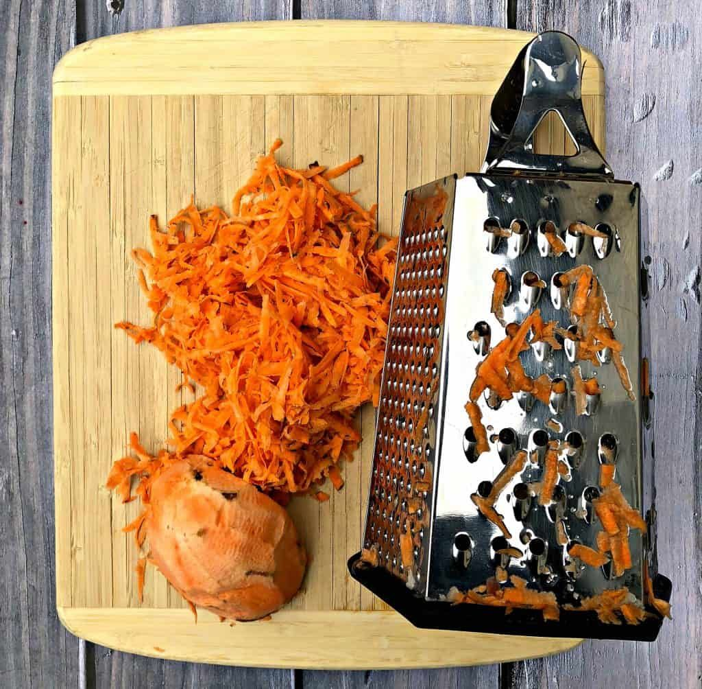 Whole 30, Paleo Crispy Air Fryer Sweet Potato Hash Browns